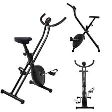 Folding Exercise Bike Home Magnetic Trainer Fitness Stationary Machine Black
