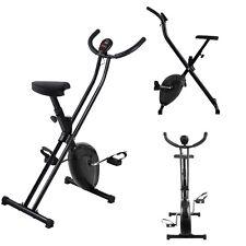 Folding Exercise Bike Home Magnetic Trainer Fitness Stationary Machine Black