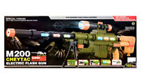 Kids Children Army Electric Flash Toy Gun Assault Rifle Light Sound-Vibration
