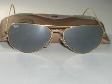 c76335e43b 58  14 RAY BAN ITALY G15 UV GOLD MIRRORED WRAP-AROUNDS AVIATOR SUNGLASSES