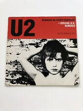 U2 Sunday Bloody Sunday 12 Inch Vinyl + Special U.S Re-Mixes
