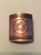 Scouting Boy Scout 14th World Jamboree Metal Neckerchief Slide Bicentennial 1976