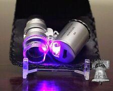 60X Gemstone Inspection Microscope Magnifier Rock Mineral Fossil Diamond Loupe B