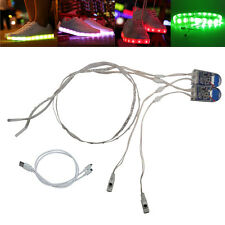 60CM USB Charging Battery Powered RGB LED Strip Light for shoes clothes party