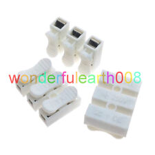 50 Pcs Quick Fix 10A 3 Way Reuseable 3P Spring Clamp Terminal Block