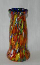 SoHo\u00ae earclips clip onearrings navette bohemia glass 1960s orange matte handmade frosted hyazinth satin handmade in cologne germany