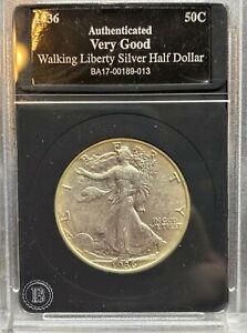 1936 P Walking Liberty Silver Half Dollar