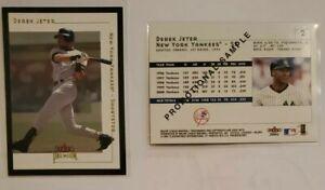2001 Fleer Premium Derek Jeter Foil Promotional Sample Card. NY Yankees HOF