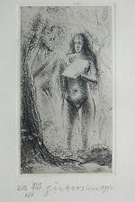 A identifier gravure encadrée signée main numérotée / 250 - Adam et Eve