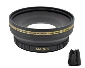 58mm High Definition 0.43x Digital Wide Angle Lens for Nikon Sony Fujifilm