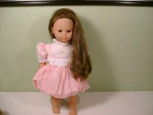 "Vtg 1986 Max Zapf Creation 21"" Baby Doll Vinyl/cloth Body Brown Eyes W.Germany"