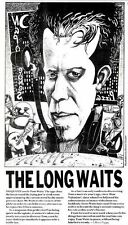 """2/11/85pg35 Tom Waits Art Illustration (Newspaper Clipping) By Simon Cooper 7x5"""""""