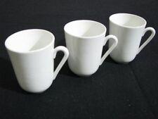 Three Vintage Arabia White Ceramic Coffee Cups or Mugs Near Mint to Mint