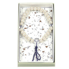 OJUZU Buddist Zen Meditation Wrist Elastic Prayer Pearl Beads w/ Purple String