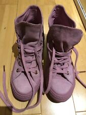 Converse All Stars Pink/Lilac Genuine Suede/Leather size UK 4.5 EU 37