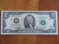 """US """"Birthday"""" $2 Dollar Bill **August 1963 Serial Number """"J019638XXA"""""""
