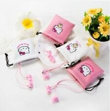 Hello Kitty Noise Canceling In-Ear Stereo Headphones Earbuds Earphone - PINK