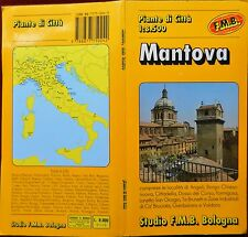 F.M.B. 1974? COLOURED PAPER TOURIST MAP with COVERS & INDEX of MANTOVA 1:8 500