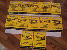 CLIPPER FLINTS (12 PACKETS OF 9 FLINTS) FOR PETROL LIGHTERS!! FREE DELIVERY !!
