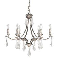 Harlow Silver Quartz 6 Light Chandelier 17 Crystal Prisms 27x25 4496SQ-000-CR