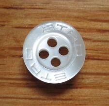ETRO brand replacement button 1/2 inch diameter off white