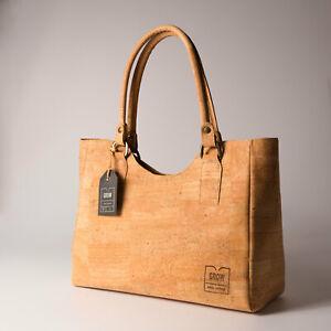 New, handmade beautiful tote handbag from natural cork, vegan bag, eco bag