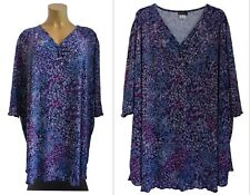 NEU Übergröße schickes Damen Kurzarm Shirt schwarz mit Glitzersteine Gr.62,64,66
