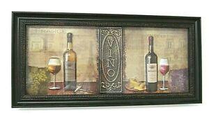 INTERIORS by DESIGN Vino Wine Cork & Cheese 7.25 x 15.25 Shadowbox Wall Hanging
