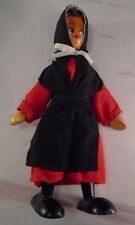 """Vintage 7"""" Polish Wooden Jointed doll"""