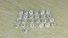 25pc 0.25cts Total 1.3mm Natural Loose Brilliant Cut Nontreated Diamond J Color