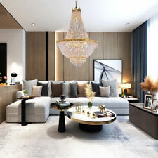 Crystal Chandeliers Modern Large Foyer Gold Ceiling Light Pendant Lamp Lighting