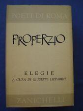 CLASSICI LATINI-POETI DI ROMA-PROPERZIO-ELEGIE-ZANICHELLI