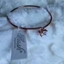Copper Color Hush Bracelet With Princess Cut Faux Diamond