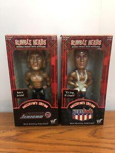 Rumble Heads Chris Jericho & Kurt Angle Bobbleheads WWE Collectors Edition 2001