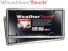 WeatherTech ClearCover License Plate Cover - 2-Pack - Brushed Stainless/Black