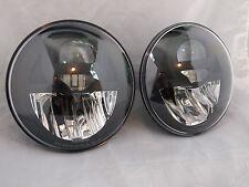 """Universal 7"""" Round LED Headlights BI-LED DOT STREET LEGAL SET H4 H6024 PAR56 E4"""
