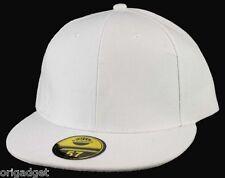 CAP RAP HIP HOP BASEBALL CAP FLAT BRIM HAT M010 white 57 - 7 1/8