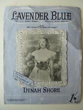 Lavender Blue da Walt Disney's tanto caro al mio cuore Dinah Shore SPARTITI MUSICALI