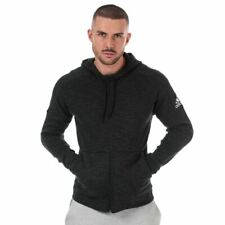 Men's adidas ID Full Zip Regular Fit Stadium Hooded Jacket in Black
