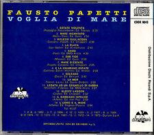 FAUSTO PAPETTI voglia di mare CD 1990 PRIMA STAMPA NO BARCODE