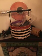 LONGABERGER Halloween 2013 WickeD WiTcH BASKET Lot Liner Lid Hat Prot Complete!!