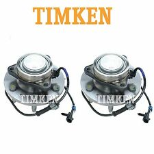 For Chevrolet GMC RWD Pair Set of 2 Front Wheel Bearings & Hub Assemblies Timken