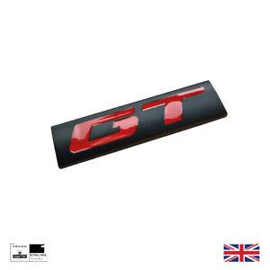 Matt Black And Red Metal GT Boot Badge For BMW Mercedes Mustang Golf Honda