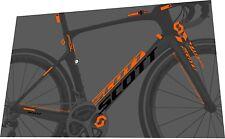 SCOTT Foil Premium 2016 Frame Sticker / Decal Set