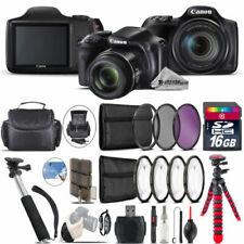 Canon PowerShot SX540 HS Camera + Spider Tripod + Monopad + Case - 16GB Bundle