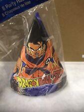 8 Dragon Ball Z Japanese Anime Manga DBZ Goku Birthday Party Favor Cone Hats NEW