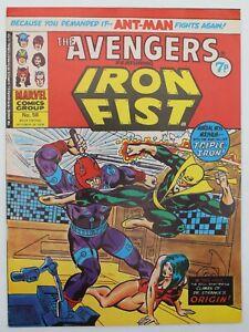 Avengers (1973) #58 UK Reprint of Iron Fist Hama Avengers #46 Dr Strange FN/VF