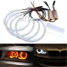 4pcs 131mm LED SMD Angel Eyes Halo Rings For BMW E36 E38 E39 E46 White Amber