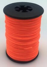 Flo. Orange BCY 3D Serving Thread.017 120 Yard Jig Spool Bow String End Serving
