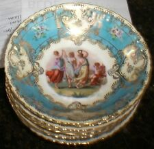 Victoria Austria  Porcelain Bowl Maiden Lesbian Neoclassical   set (6) Beehive